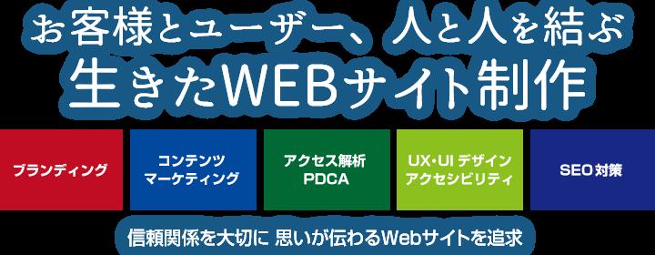 お客様とユーザー、人と人を結ぶWebサイト制作 信頼関係を大切に 思いが伝わるWebサイトを追求